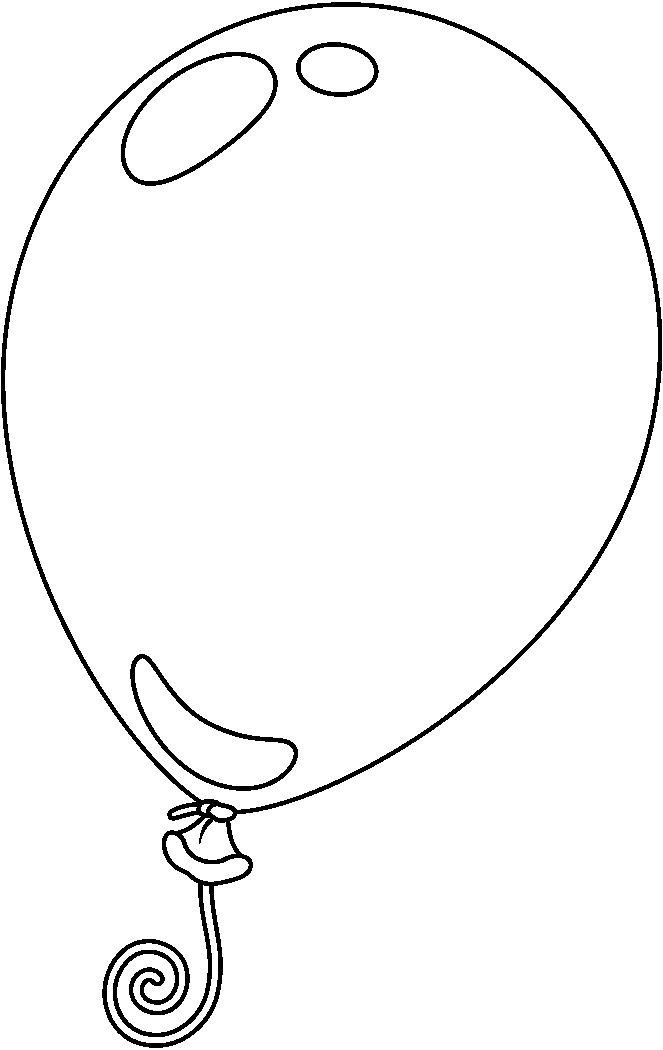 Monochrome clipart balloon 159 Dibujos (663×1050) Pinterest BALLOON_BW