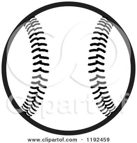 Baseball clipart black background And Black white Baseball