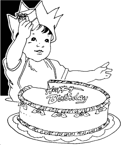 Black & White clipart birthday White free collection Birthday and