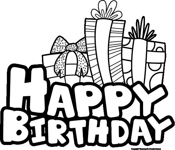 Black & White clipart birthday Birthday Black Art White schliferaward