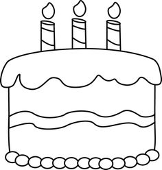 Black & White clipart cake Balloons and white Collection birthday