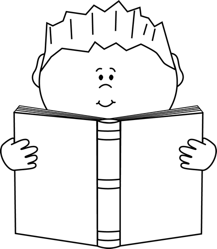 Covered clipart book cartoon Boy Reading White Images Book
