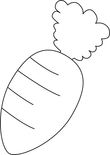 Carrot clipart black and white Image White and White Carrot