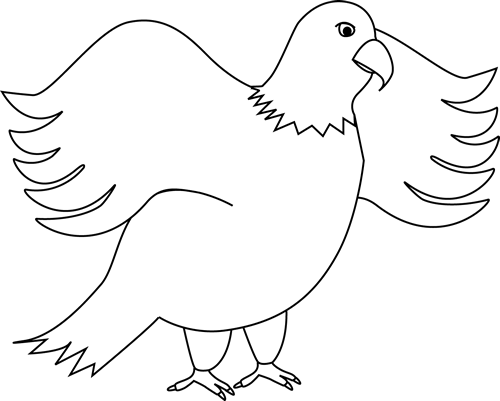 Black Eagle clipart black and white And White background Black and