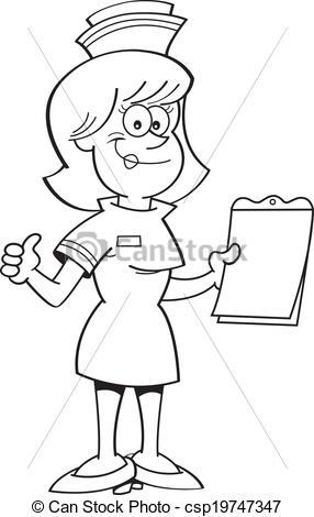 Nurse Cartoon a with EPS