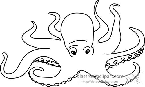 Black clipart octopus Clip Clipart octopus #37 art