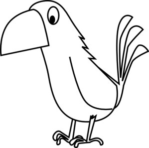 Monochrome clipart parrot Art Clker clip vector Art