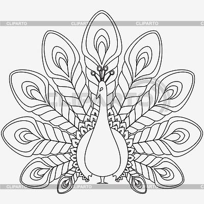 Black & White clipart peacock Google peacock and design peacock