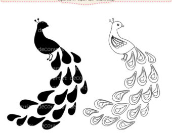 Peacock clipart black and white Images White images And black