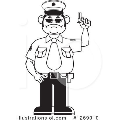 Monochrome clipart policeman Illustration by by (RF) Police