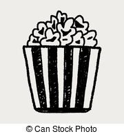 Popcorn clipart vintage EPS 070 Artby Clip Popcorn