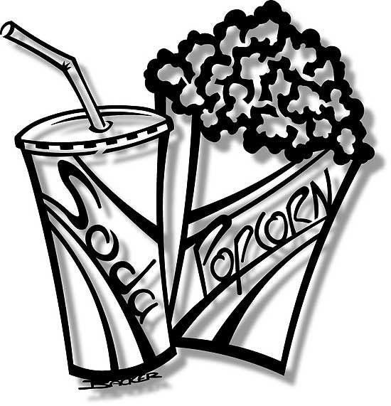 Popcorn clipart concession stand White Pieces and White