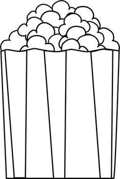 Popcorn clipart black and white Clipart collection black Popcorn and