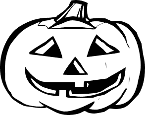 White clipart halloween Pumpkin collection Black and Free
