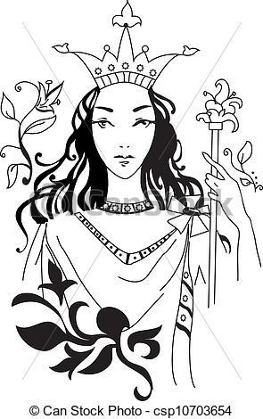 Monochrome clipart queen #14