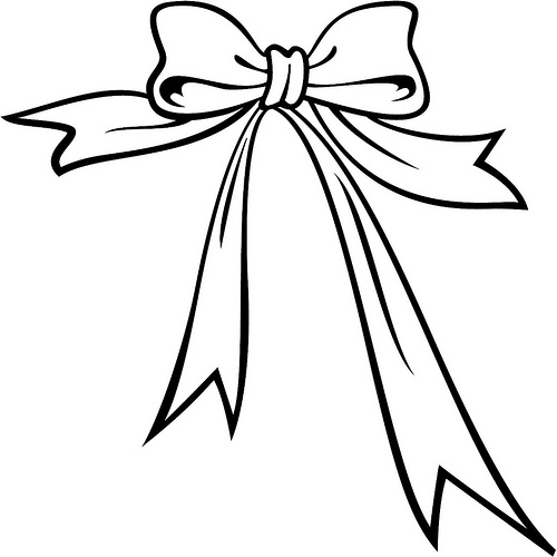 Ribbon clipart black and white #5
