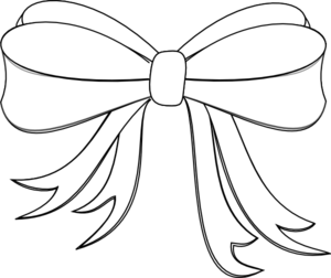 Ribbon clipart black and white #7