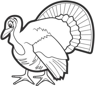 Monochrome clipart turkey 2 Turkey clipart art art