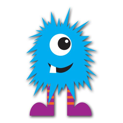 Monster clipart blue monster #7