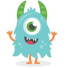 Monster clipart blue monster #9