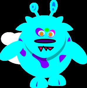 Monster clipart blue monster #6