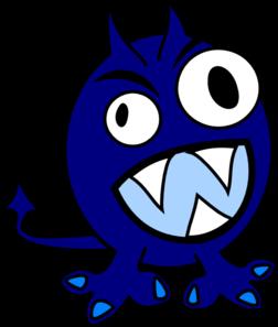 Monster clipart blue monster #4