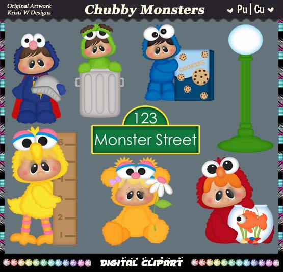 Monster clipart chubby #3