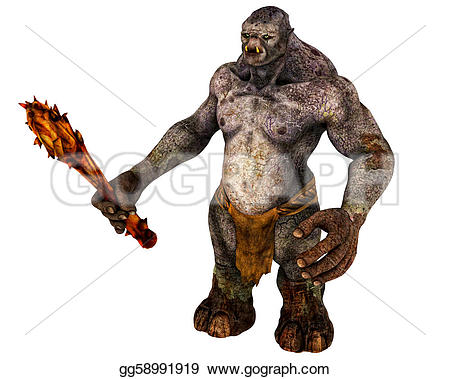 Monster clipart demon Stock Stock giant troll Stock