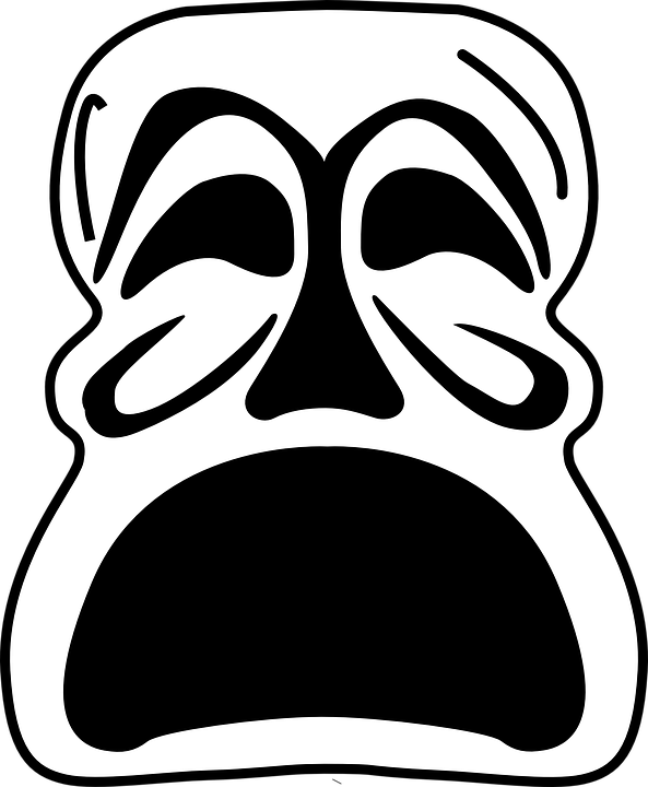 Monster clipart demon Unhappy Unhappy Vintage Mask Sad