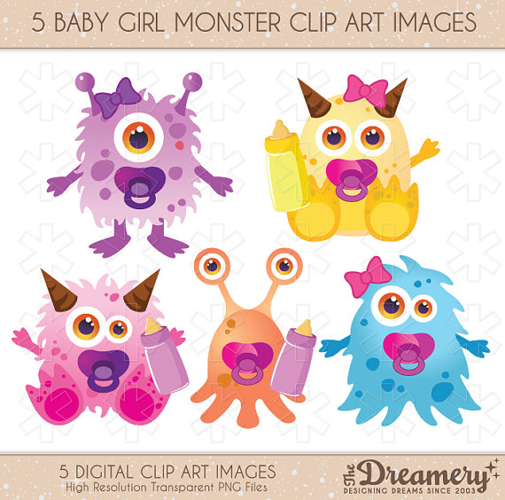 Monster clipart girly #6