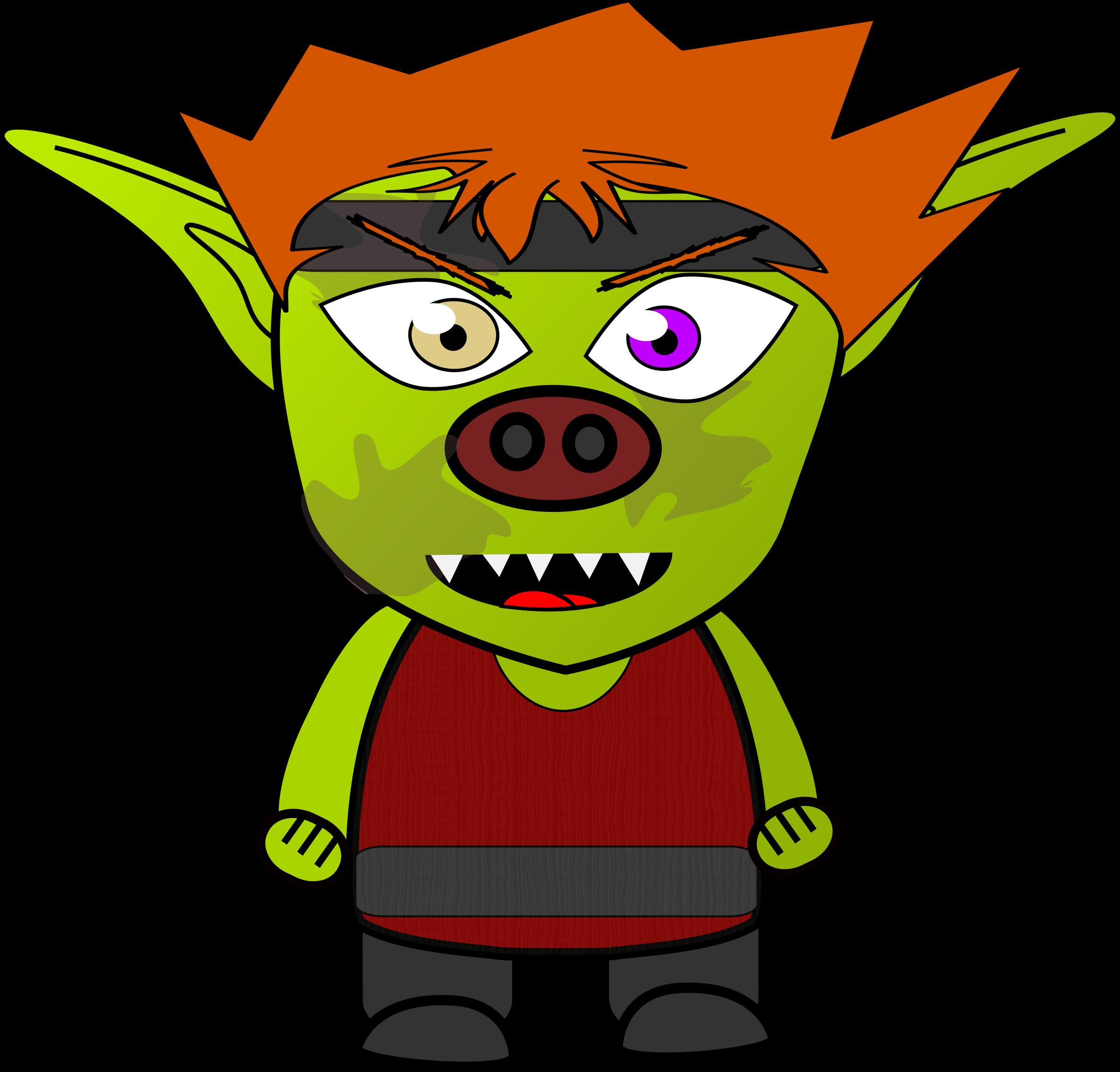 Monster clipart goblin Goblin Clipart Chibi Fighter Goblin