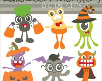 Monster clipart halloween monster #12