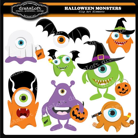 Monster clipart halloween monster #10