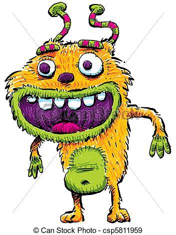 Monster clipart happy #15