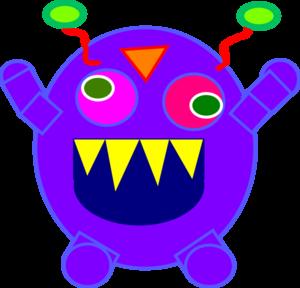 Monster clipart happy #9