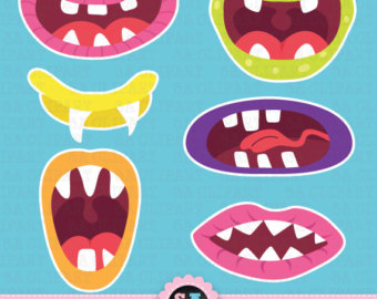 Monster clipart lip #8