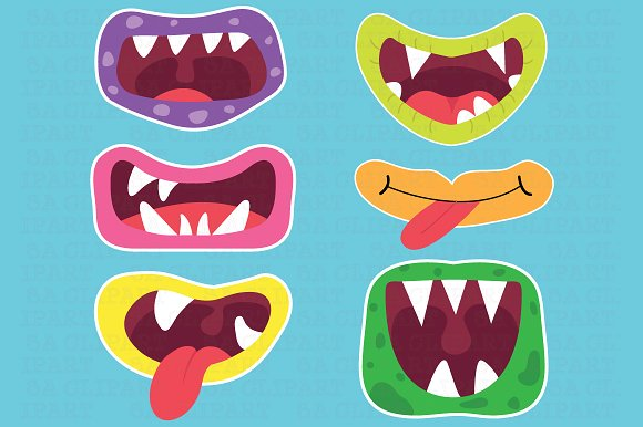 Monster clipart lip #12