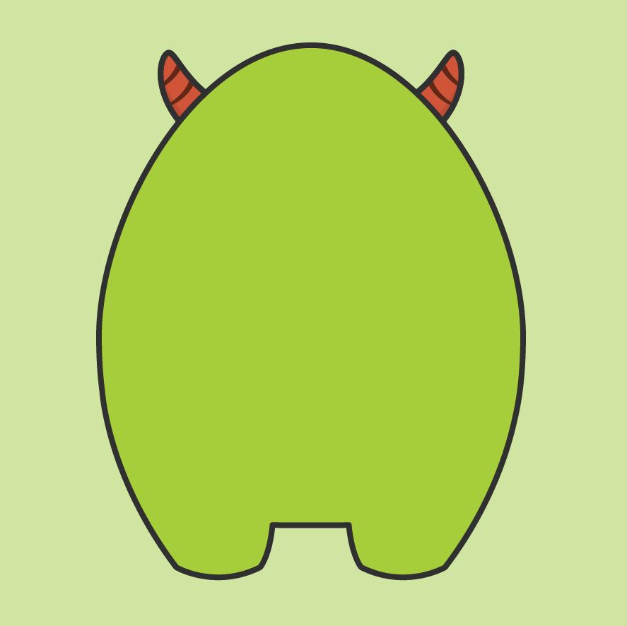 Monster clipart monster body #15