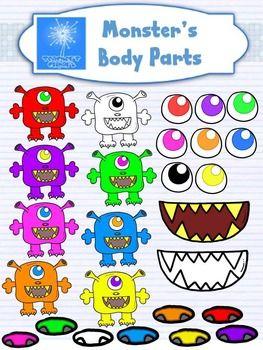 Monster clipart monster body #9