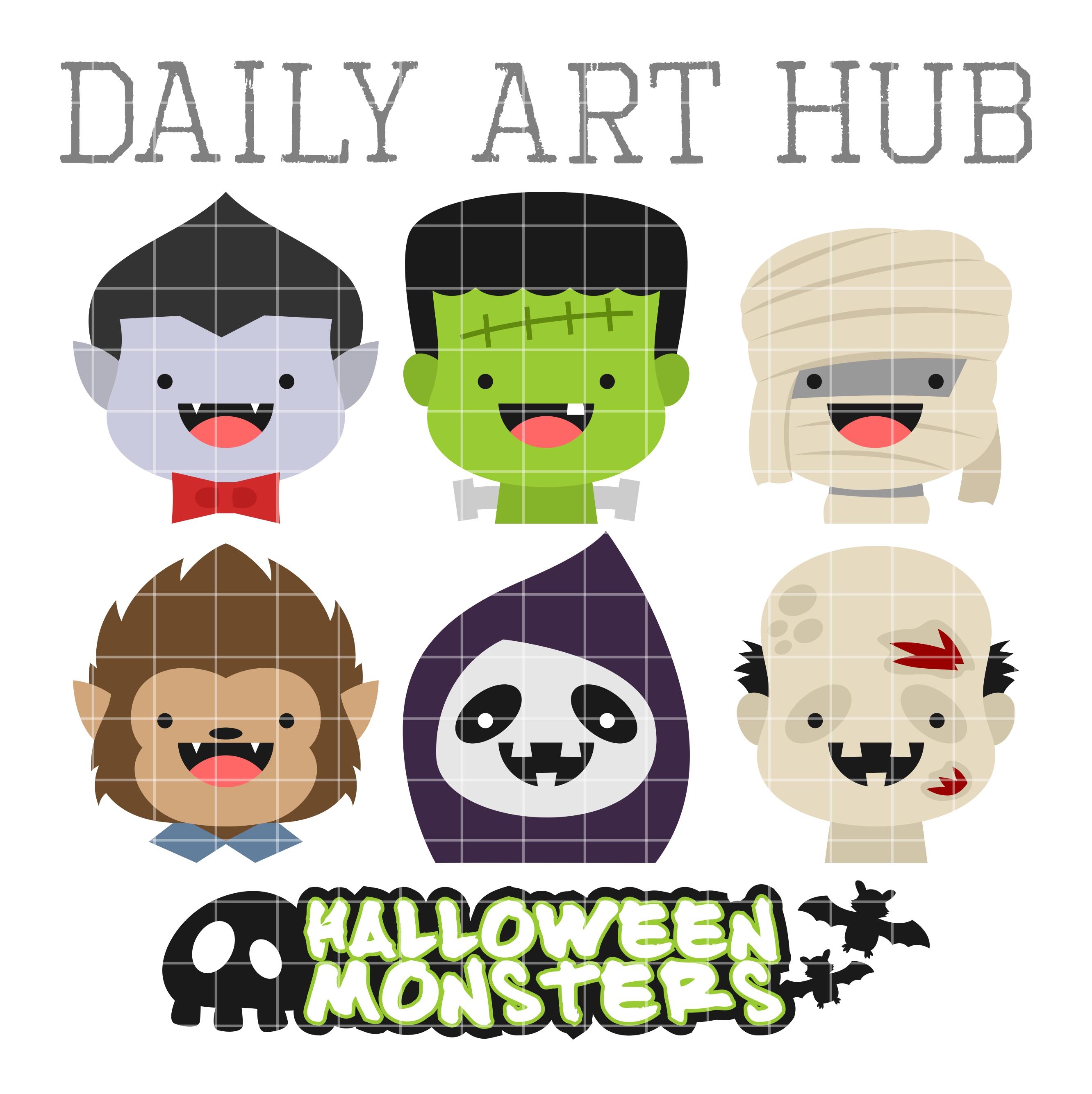 Monster clipart monster head #10