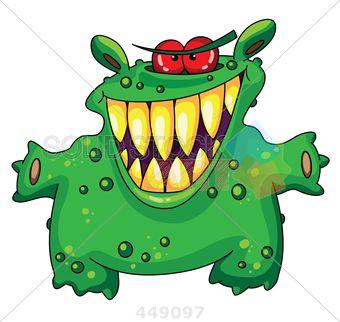 Teeth yellow eyes green and