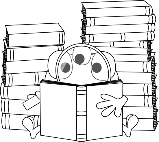 Monster clipart reading #7