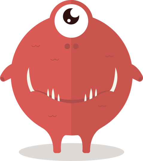 Monster clipart red Monster cute free  of