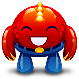 Monster clipart red Happy Image IconBug Monster Red