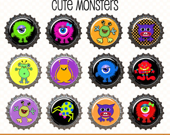 Monster clipart round #9