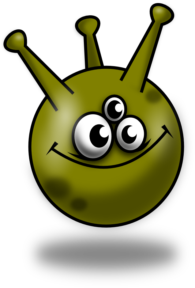Monster clipart round #4