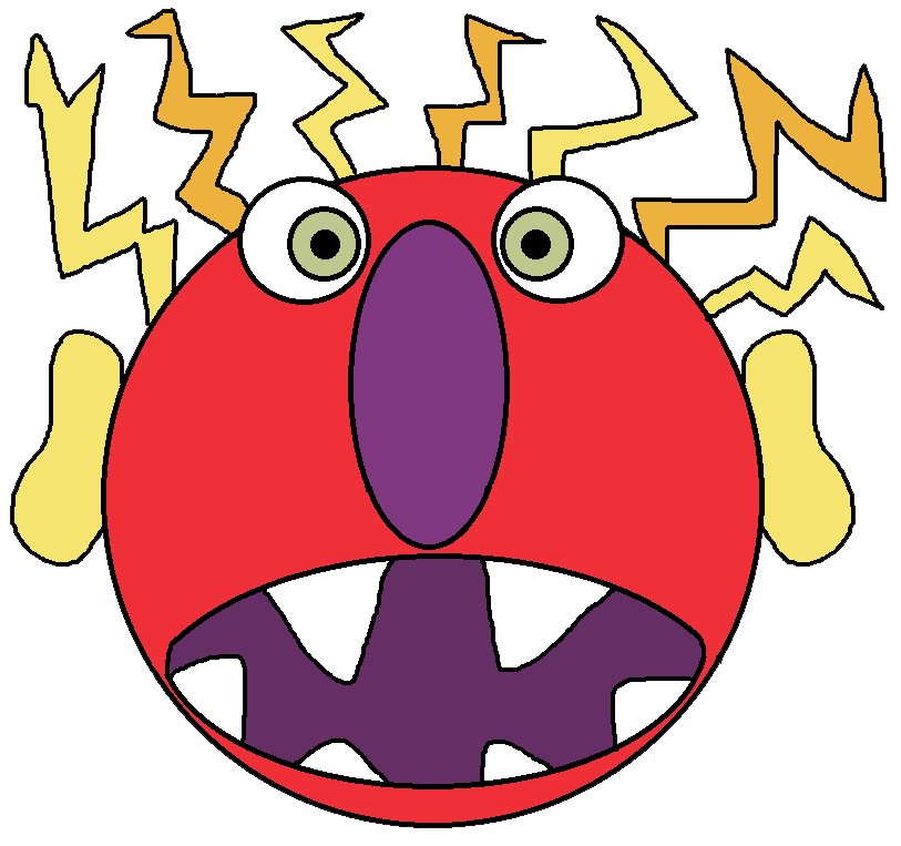 Monster clipart sad By Download files HERE Ruth
