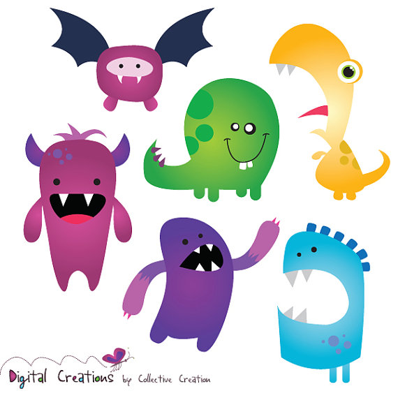 Monster clipart silly monster #10
