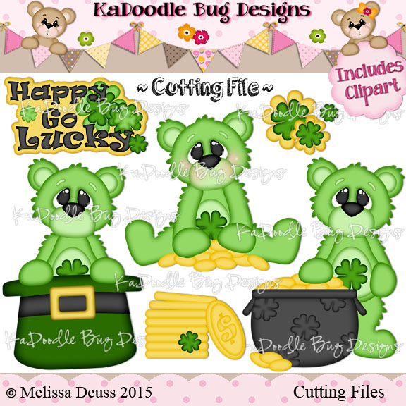 Monster clipart st patricks day Files Stamps Kadoodle : Cut