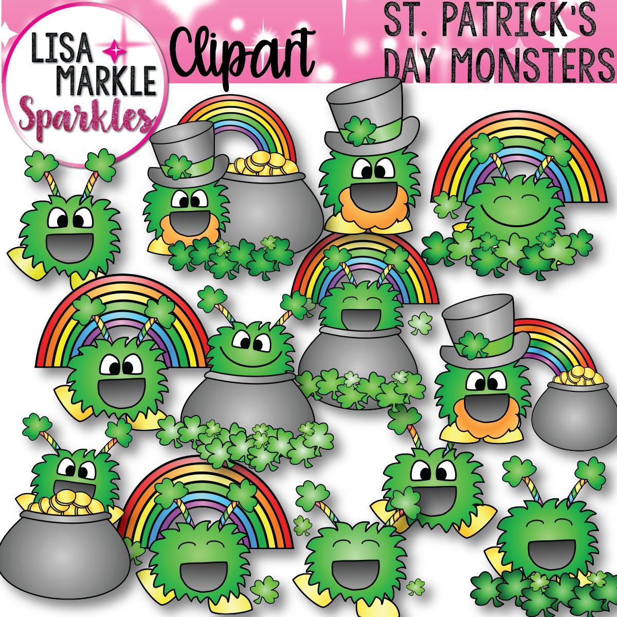 Monster clipart st patricks day Clip Saint Patrick's Patrick's Monsters